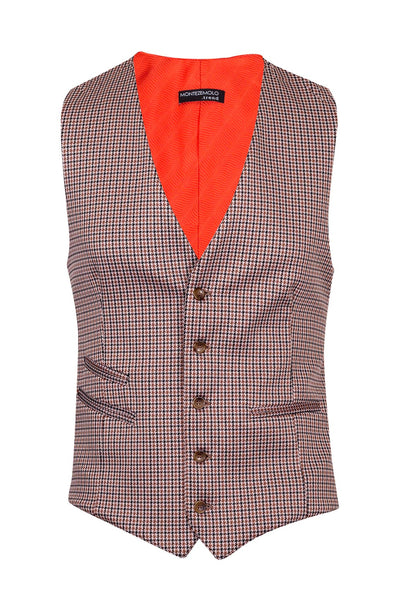 Checked Wool & Lycra Blend Suit