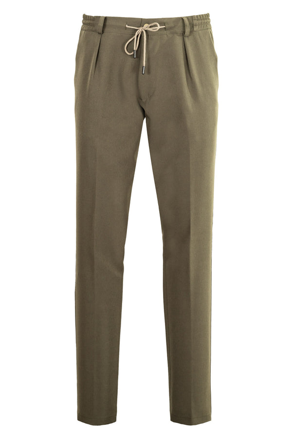 MONTEZEMOLO Men's Clothing - Trousers - TecnoSilk Chino with Drawstring - www.montezemolostore.com