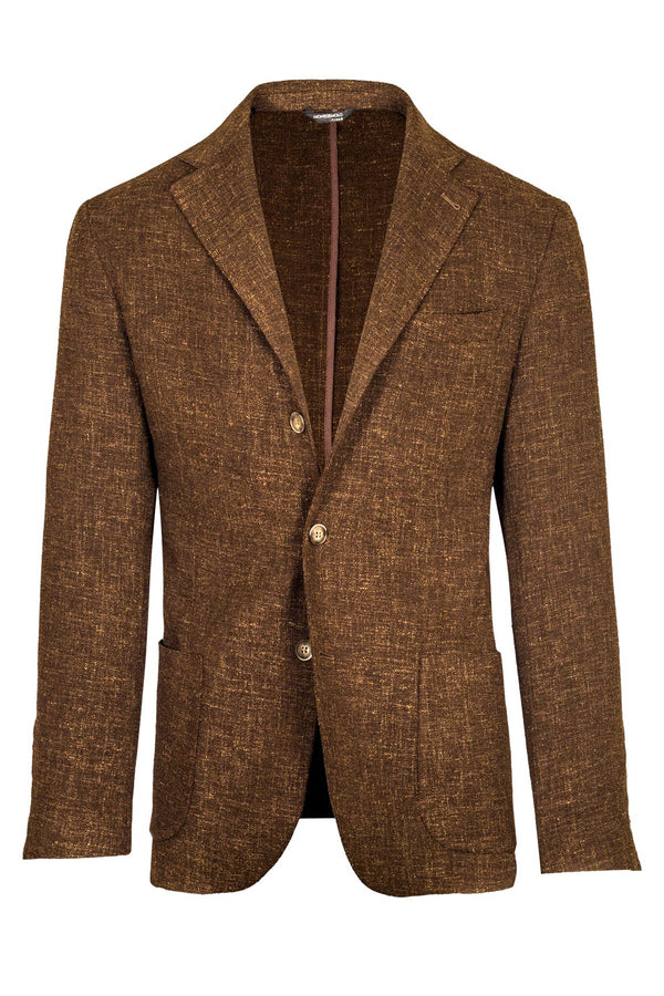 Melange Wool & Silk Jacket