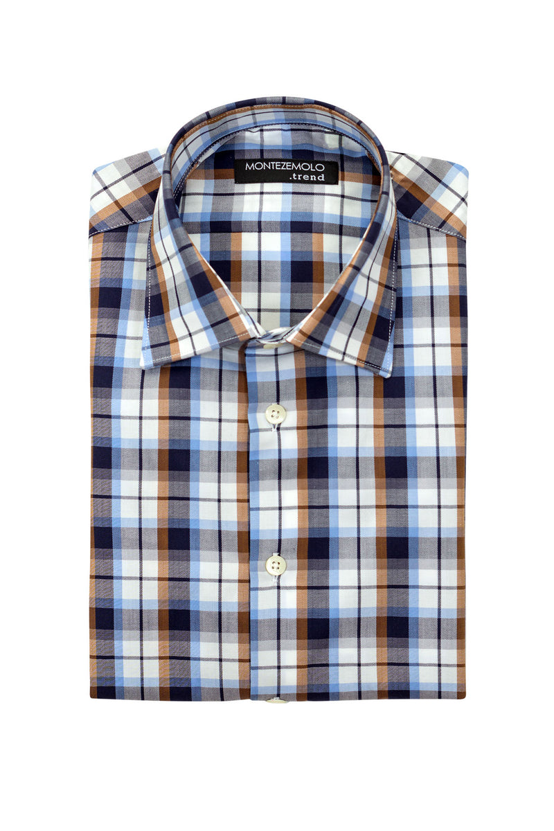 MONTEZEMOLO Men's Clothing - Shirts - Multicolor Check Shirt - www.montezemolostore.com