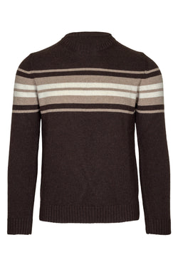 MONTEZEMOLO Men's Clothing - Knitwear - Striped Wool Blend Crewneck - www.montezemolostore.com