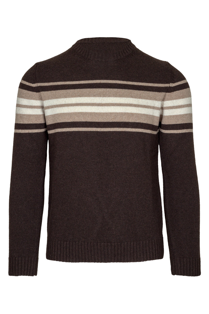 Striped Wool Blend Crewneck