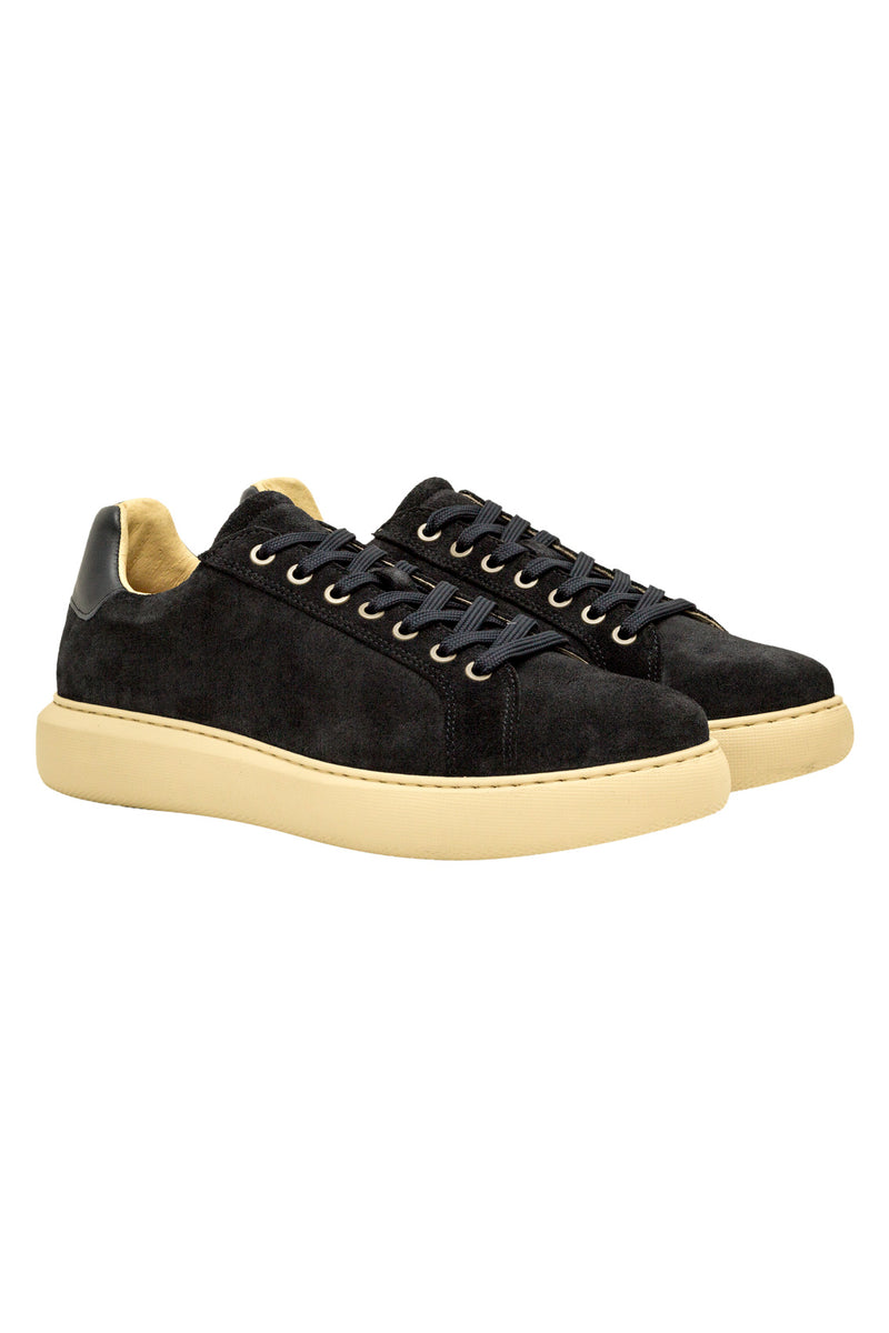 MONTEZEMOLO Men's Clothing - Sneakers - Suede Leather Sneakers - www.montezemolostore.com