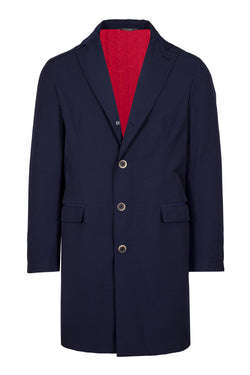 Water-Resistant Singlebreasted Trench Coat
