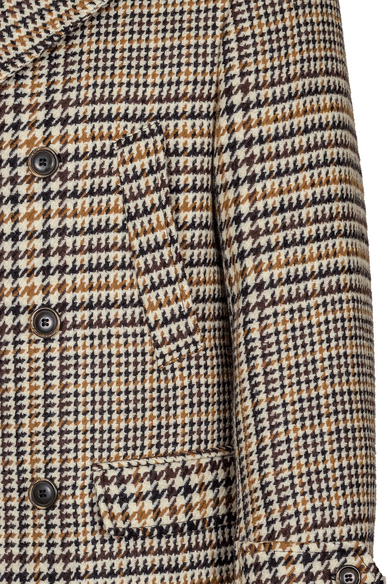 MONTEZEMOLO Men's Clothing - Outerwear - Pied-de-Poule Fancy Wool Peacoat - www.montezemolostore.com