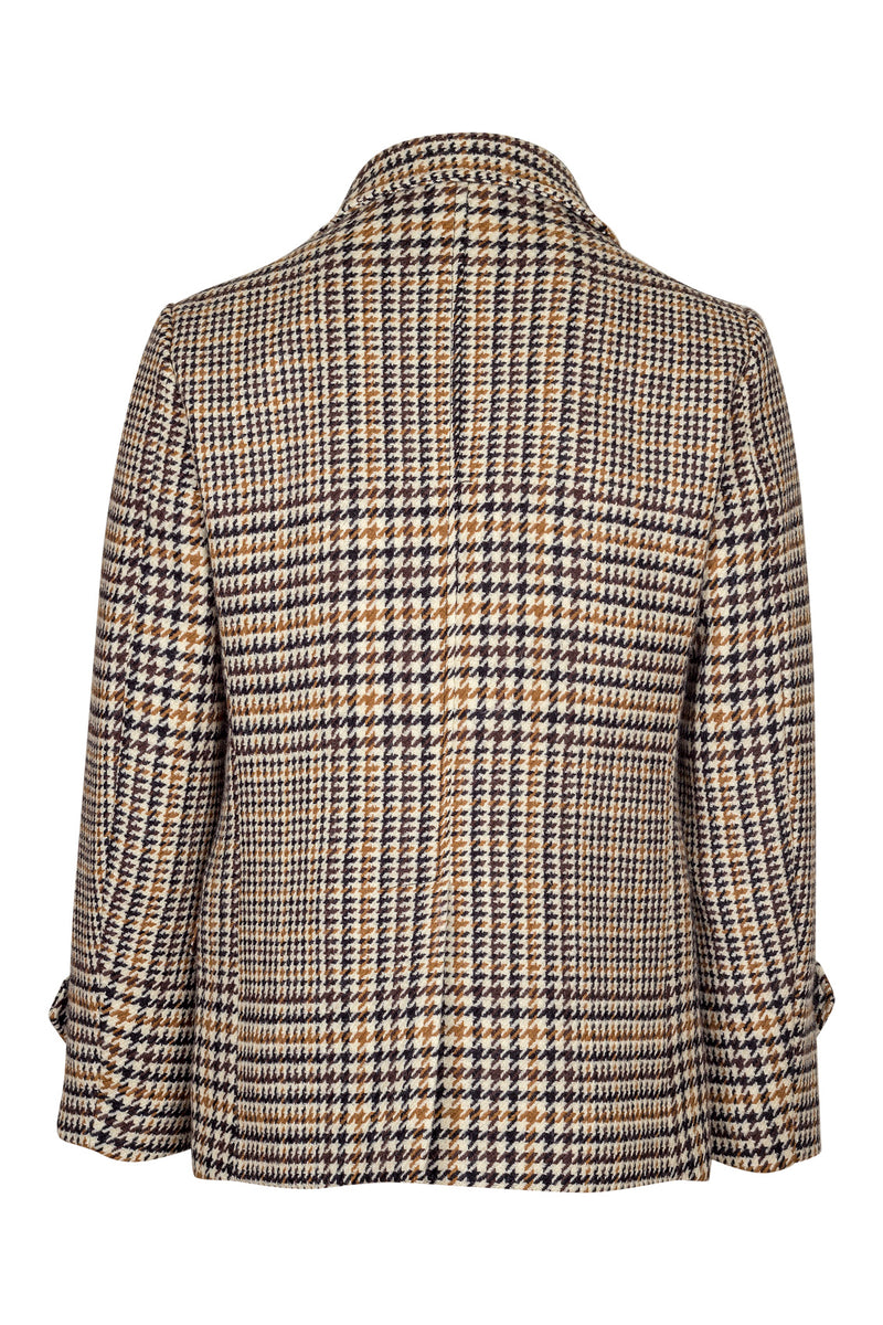 Pied-de-Poule Fancy Wool Peacoat