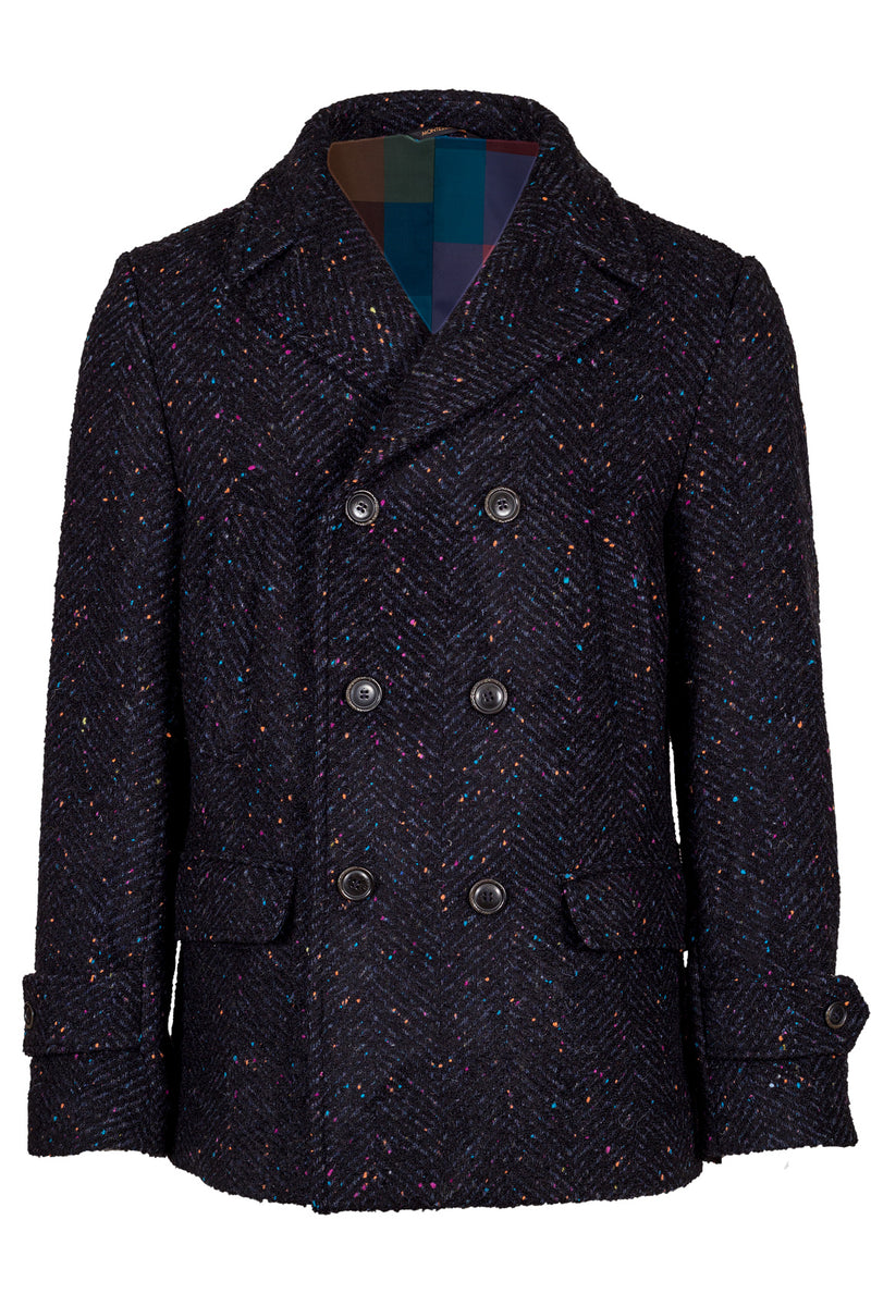 MONTEZEMOLO Men's Clothing - Outerwear - Knikerboker Yarn Fancy Wool Peacoat - www.montezemolostore.com