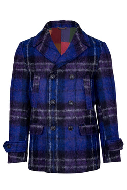 Wool & Alpaca Fleece Fancy Peacoat