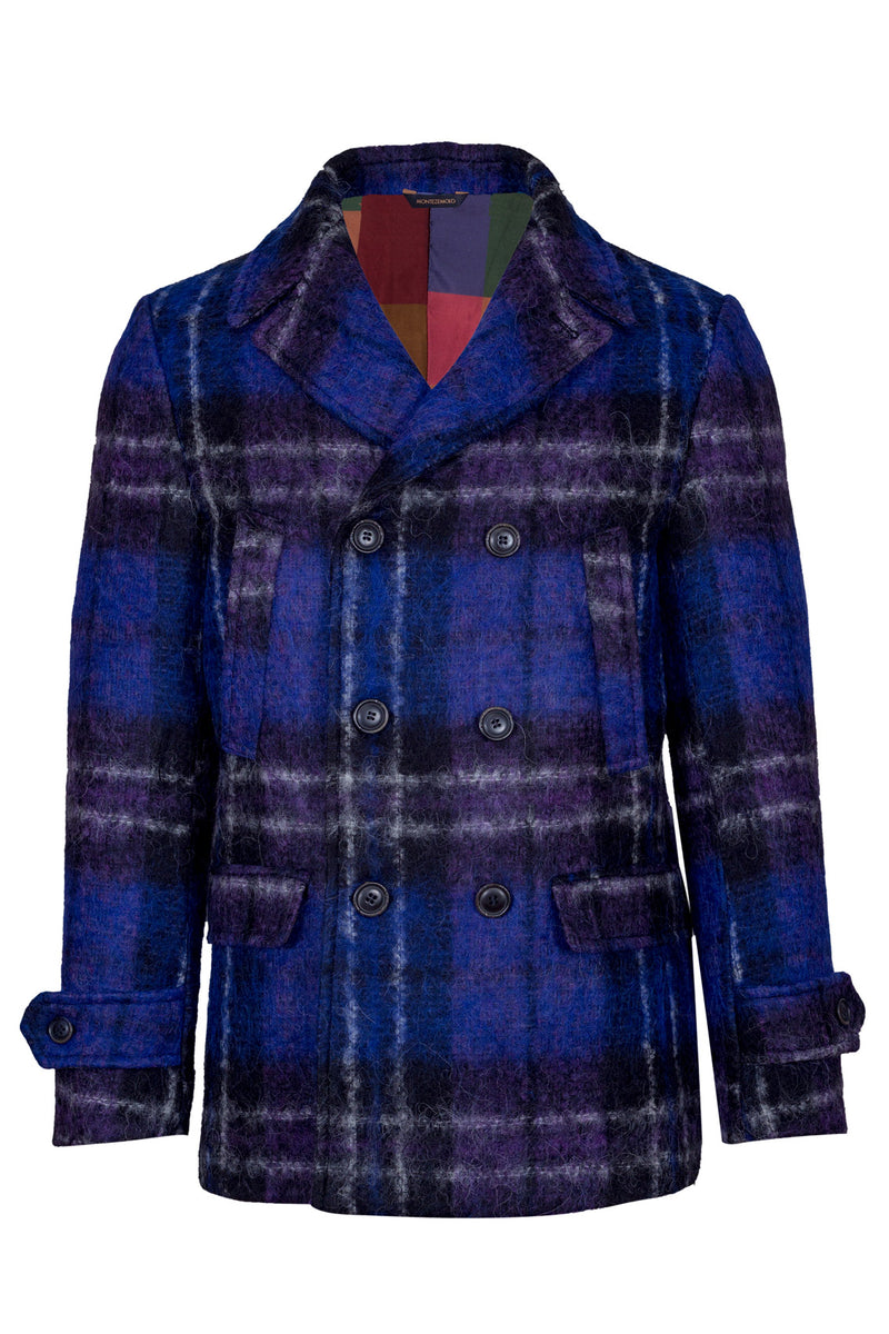 MONTEZEMOLO Men's Clothing - Outerwear - Wool & Alpaca Fleece Fancy Peacoat - www.montezemolostore.com