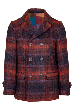 MONTEZEMOLO Men's Clothing - Outerwear - Wool & Pima Cotton Fleece Fancy Peacoat - www.montezemolostore.com
