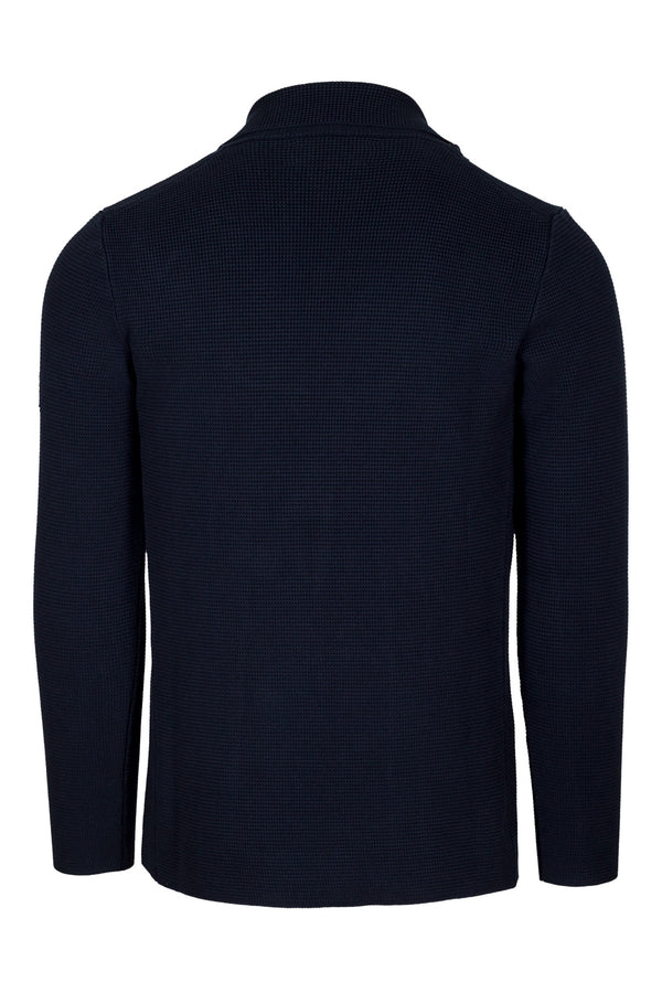 MONTEZEMOLO Men's Clothing - Viola - Double-Breasted Stitch Knit Jacket - www.montezemolostore.com