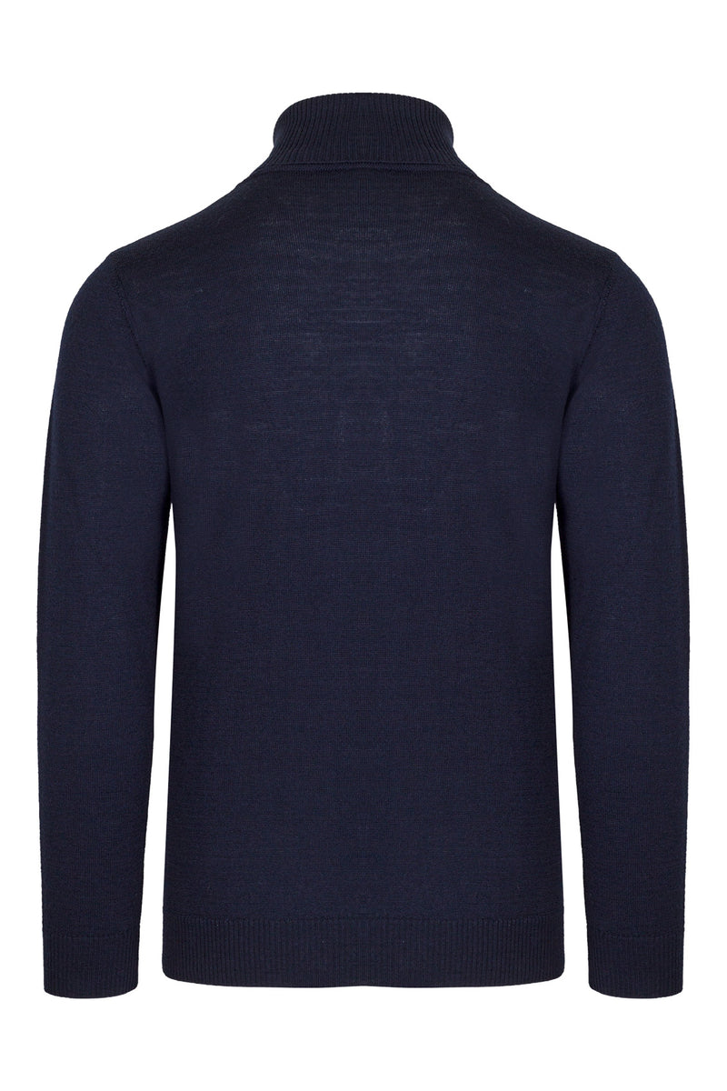 MONTEZEMOLO Men's Clothing - Viola - Official Merino Wool Giglio Turtleneck - www.montezemolostore.com