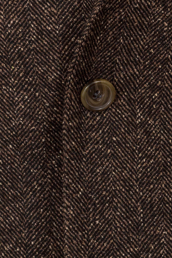 MONTEZEMOLO Men's Clothing - Jackets - Herringbone Weave Wool & Silk Blend Jacket - www.montezemolostore.com