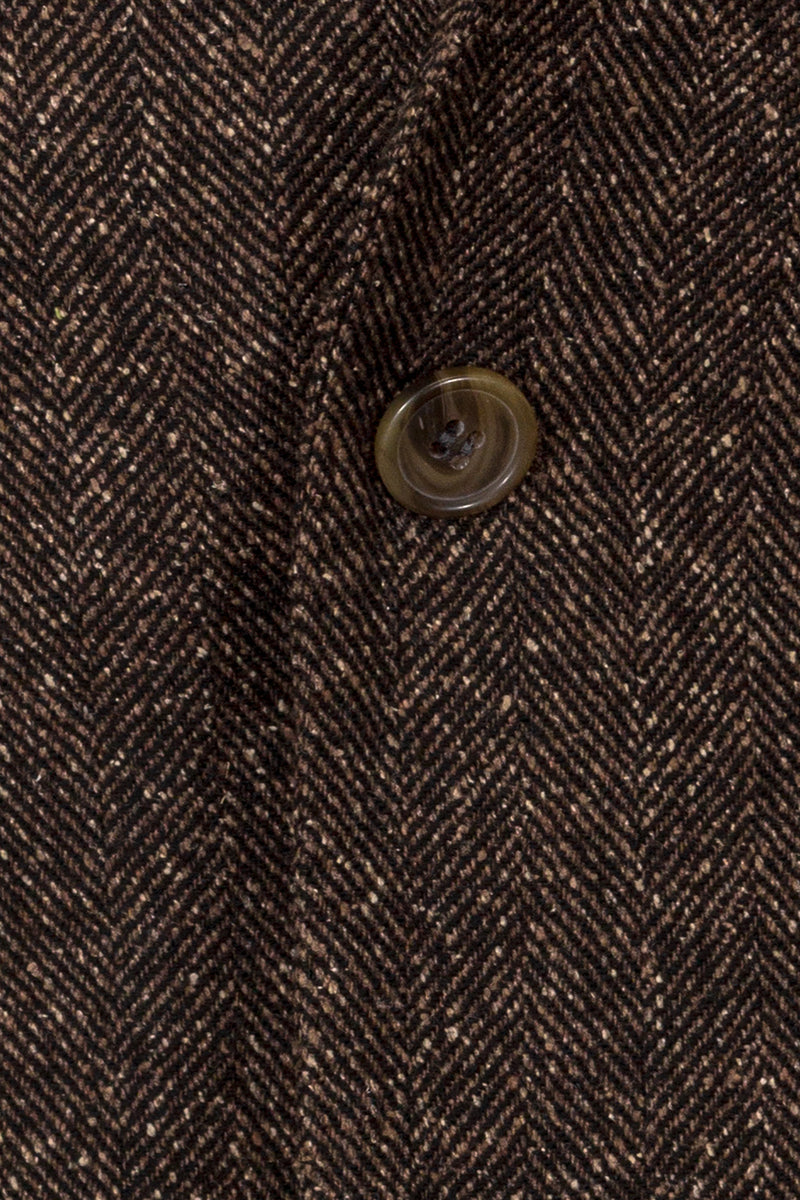 Herringbone Weave Wool & Silk Blend Jacket
