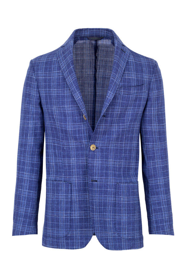 Madras Wool, Silk & Linen Jacket