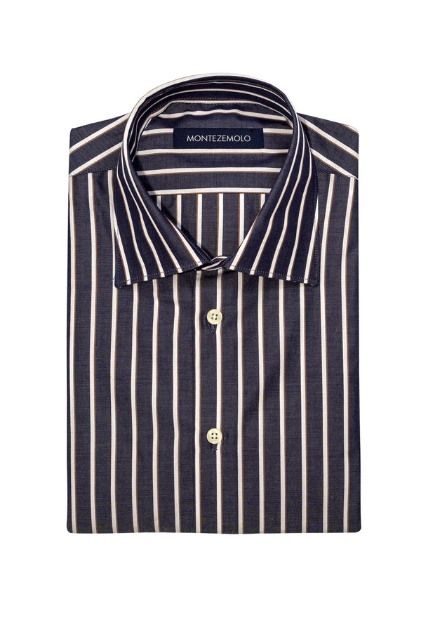 MONTEZEMOLO Men's Clothing - Shirts - Bold Striped Shirt - www.montezemolostore.com