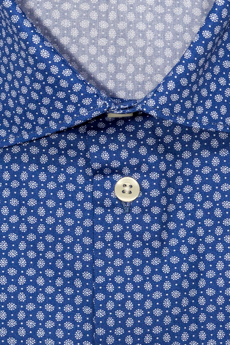MONTEZEMOLO Men's Clothing - Shirts - Fancy Printed Pure Cotton Shirt - www.montezemolostore.com