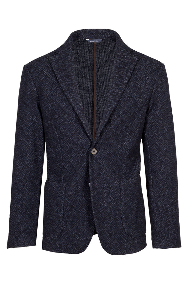 Wool & Cotton Blend Jersey Jacket