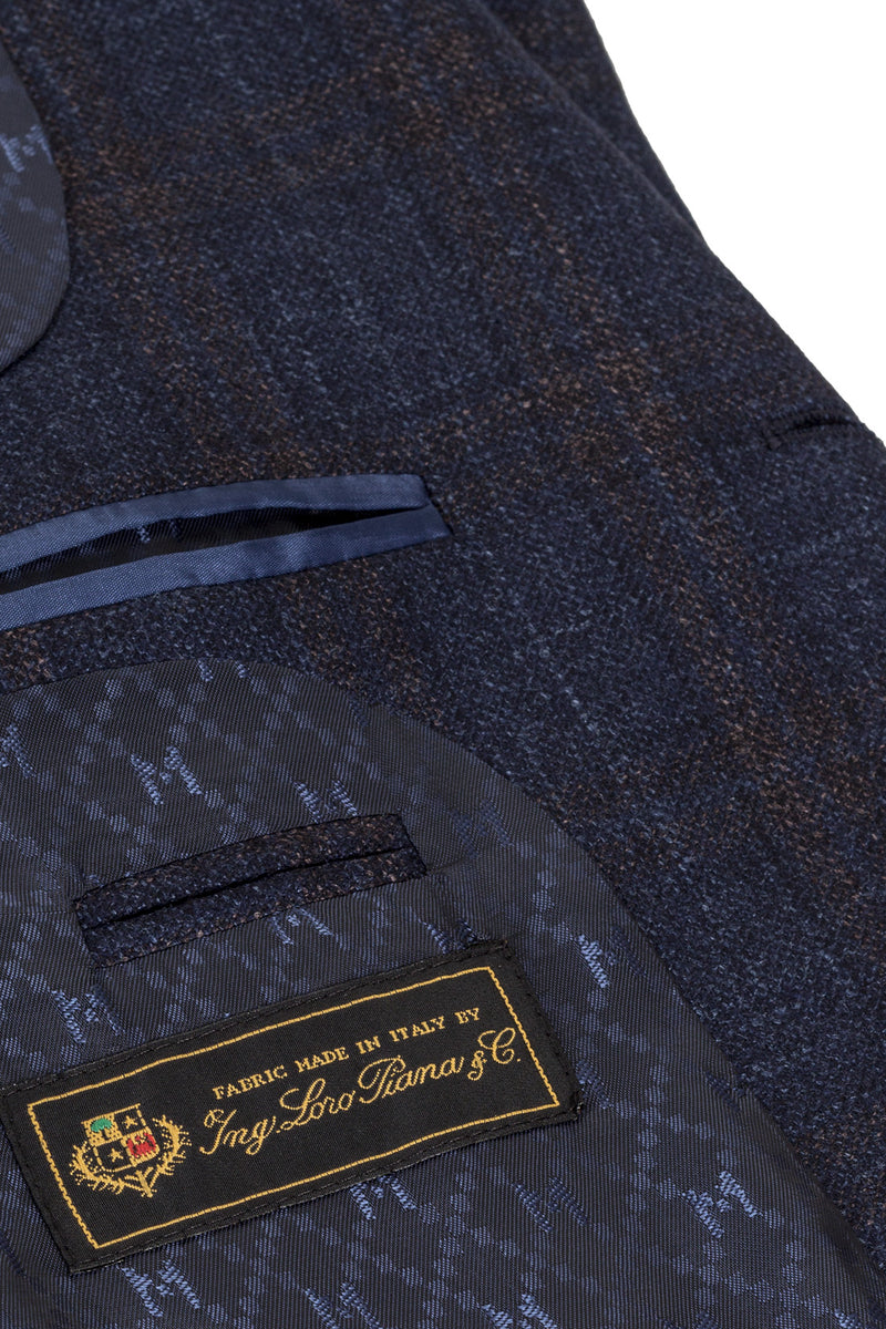 MONTEZEMOLO Men's Clothing - Jackets - Wool Silk & Cashmere Blend Check Jacket - www.montezemolostore.com