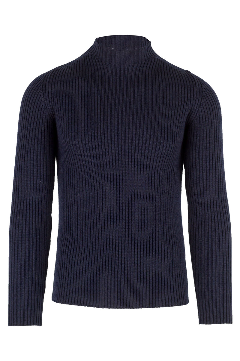 MONTEZEMOLO Men's Clothing - Knitwear - Vulcano-Neck Sweater - www.montezemolostore.com