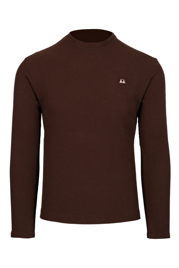 MONTEZEMOLO Men's Clothing - Knitwear - Piquet Cotton Creweck - www.montezemolostore.com