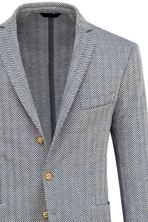 Herringbone Cotton & Linen Jersey Jacket