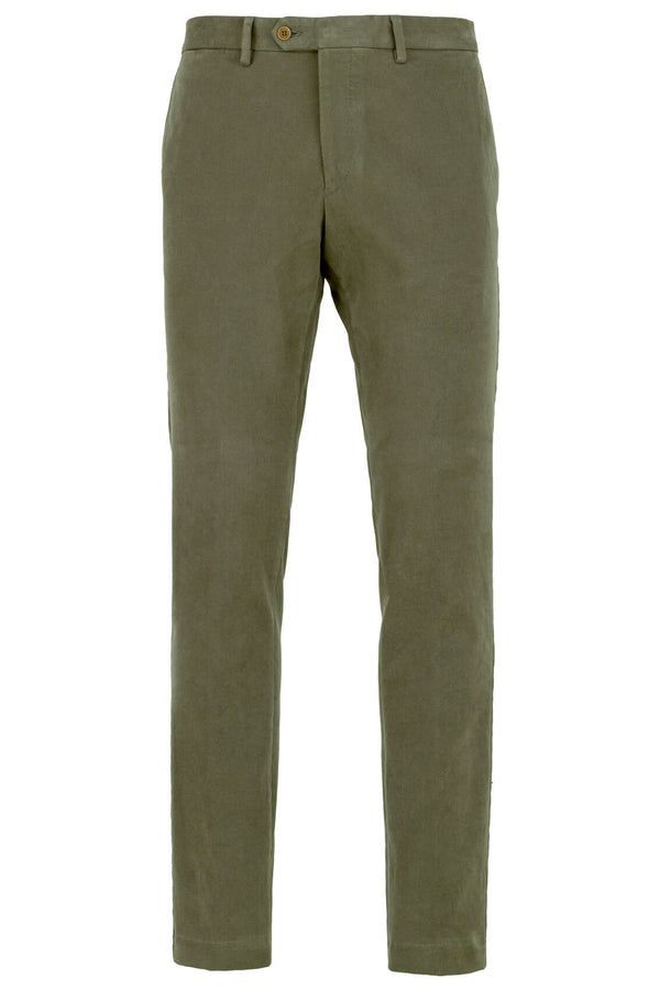 MONTEZEMOLO - Trousers - Cotton Chino Trousers - MONTEZEMOLO