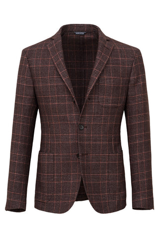 Prince-of-Wales Wool Cotton & Cashmere Jacket