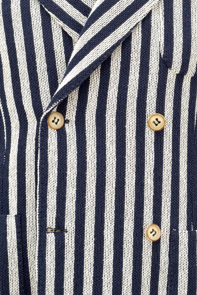 Striped Giro Inglese Weave Doublebreasted