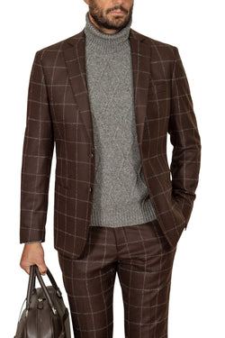 MONTEZEMOLO Men's Clothing - Suits - Wool & Cashmere Check Suit - www.montezemolostore.com