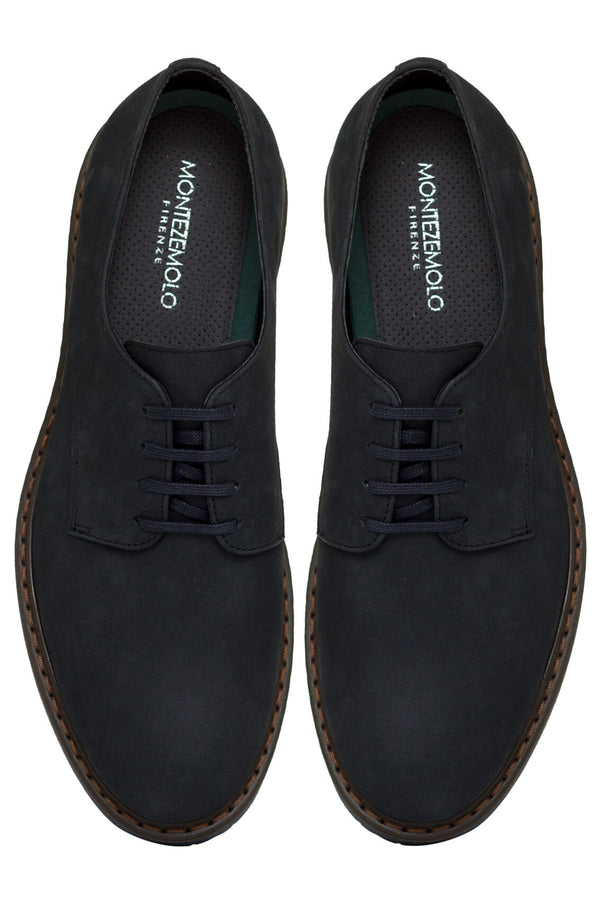 MONTEZEMOLO Men's Clothing - Lace Up Shoes - Nabuk Derby - www.montezemolostore.com