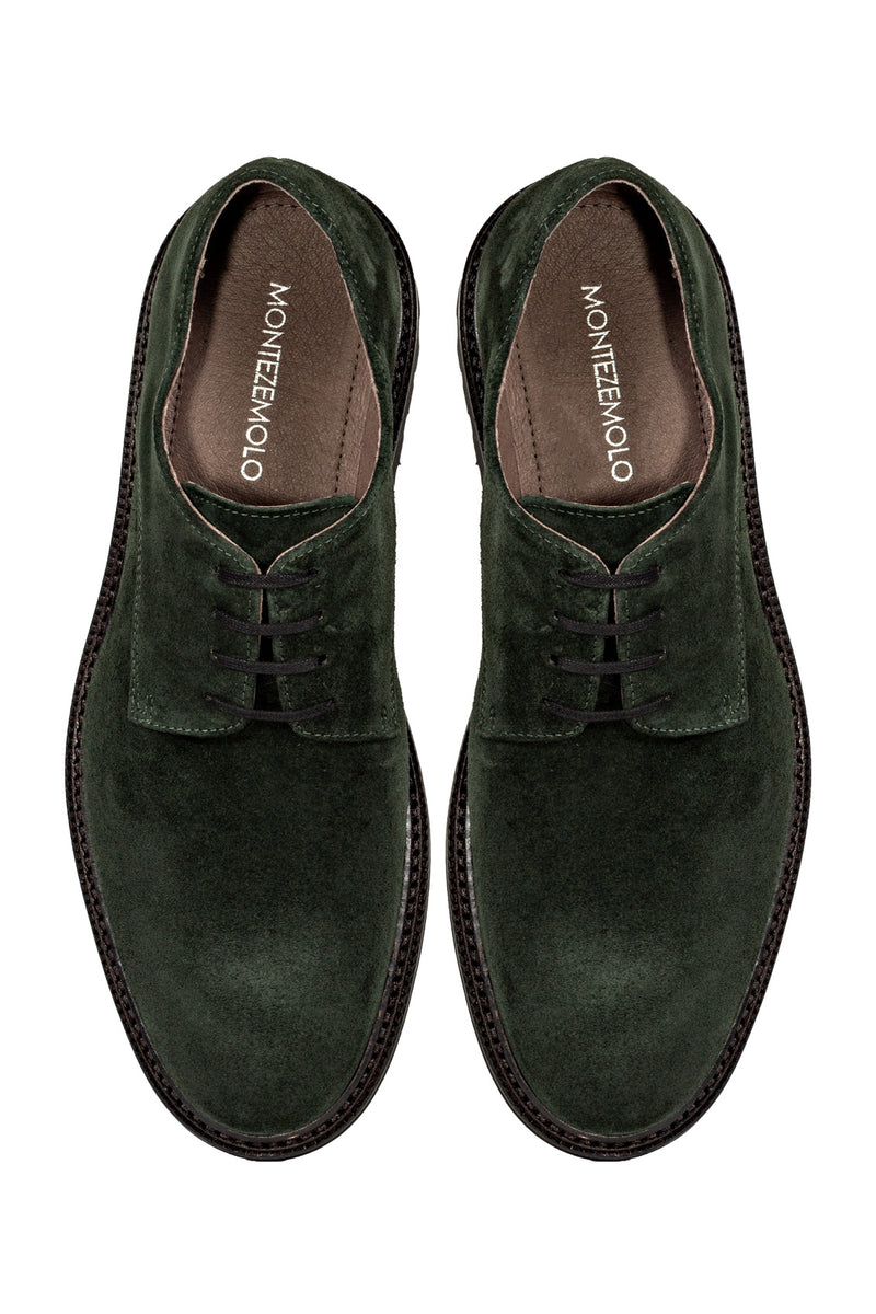 MONTEZEMOLO Men's Clothing - Lace Up Shoes - Calf Suede Derby - www.montezemolostore.com
