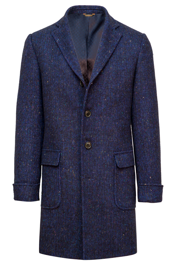 MONTEZEMOLO Men's Clothing - Outerwear - Knickerbocker Yarn Wool & Cashmere Fancy Wool Coat - www.montezemolostore.com