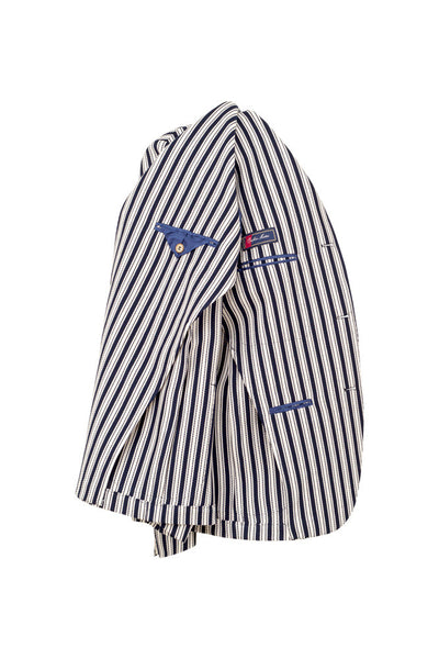 Striped Jersey Weave Cotton Jacket