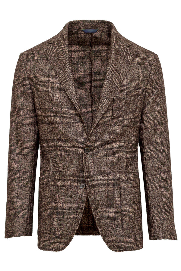 MONTEZEMOLO Men's Clothing - Jackets - Checked Suri Alpaca & Wool Jacket - www.montezemolostore.com