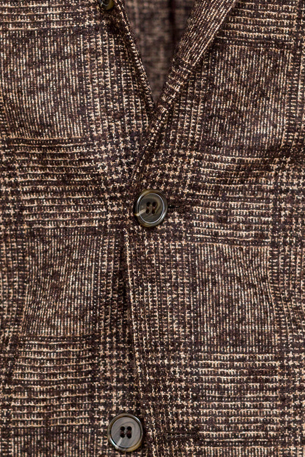 Checked Suri Alpaca & Wool Jacket