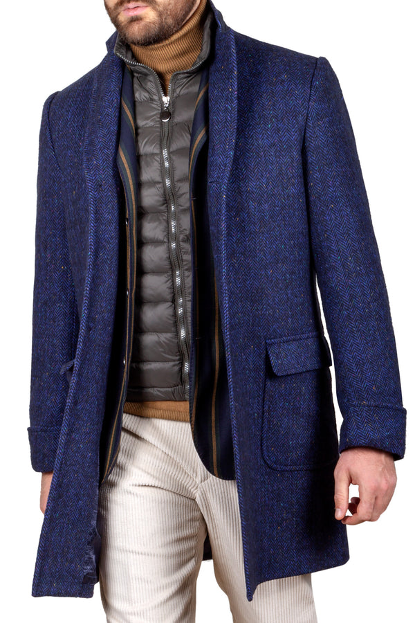 Knickerbocker Yarn Wool & Cashmere Fancy Wool Coat