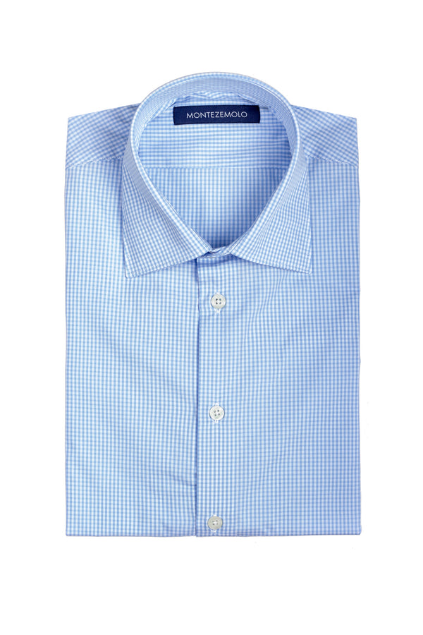 MONTEZEMOLO Men's Clothing - Shirts - Micro-Check Cotton Shirt - www.montezemolostore.com
