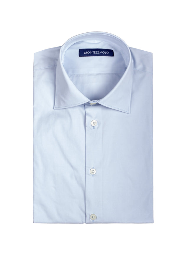 MONTEZEMOLO Men's Clothing - Shirts - Plain Cotton Shirt - www.montezemolostore.com