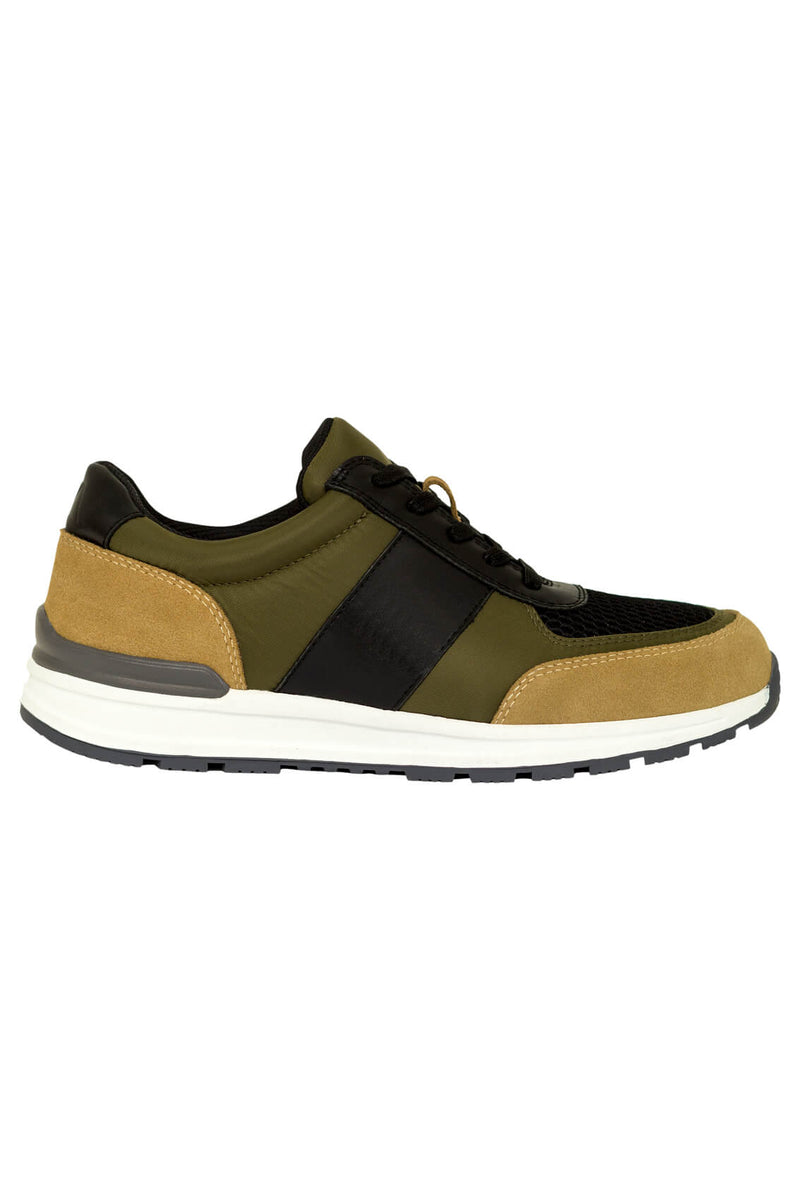 MONTEZEMOLO Men's Clothing - Sneakers - Fabric & Leather Sneakers - www.montezemolostore.com