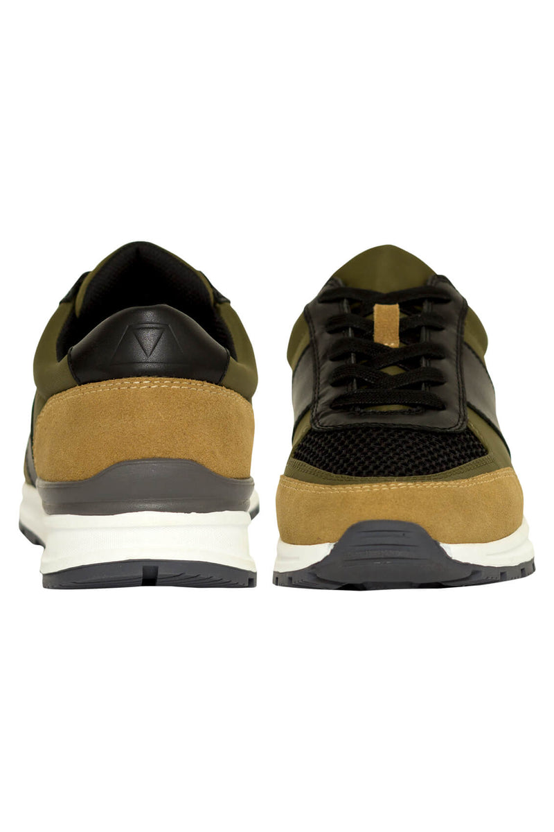 MONTEZEMOLO - Sneakers - Fabric & Leather Sneakers - MONTEZEMOLO