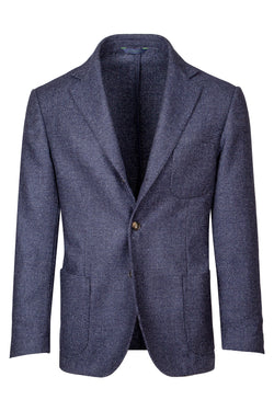 MONTEZEMOLO Men's Clothing - Jackets - Micro-Check Wool & Silk Blend Jacket - www.montezemolostore.com