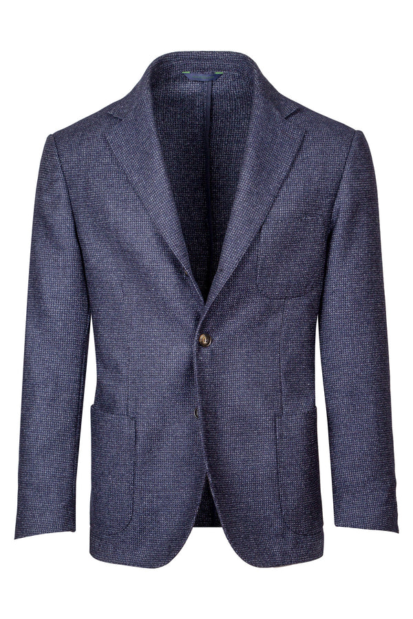 Micro-Check Wool & Silk Blend Jacket