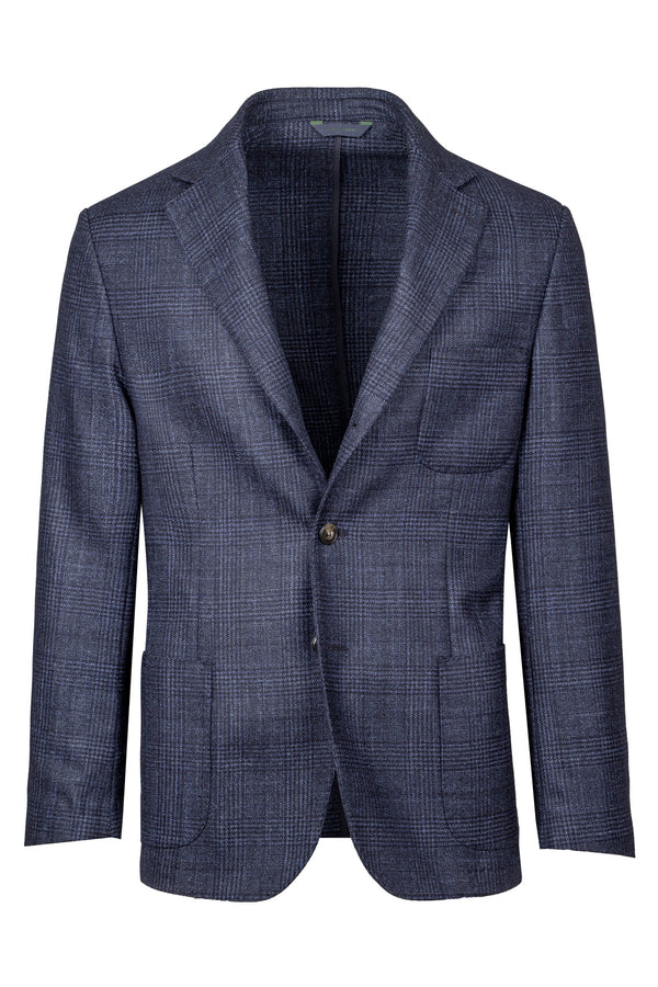 Prince-of-Wales Wool Silk & Cashmere Blend Jacket