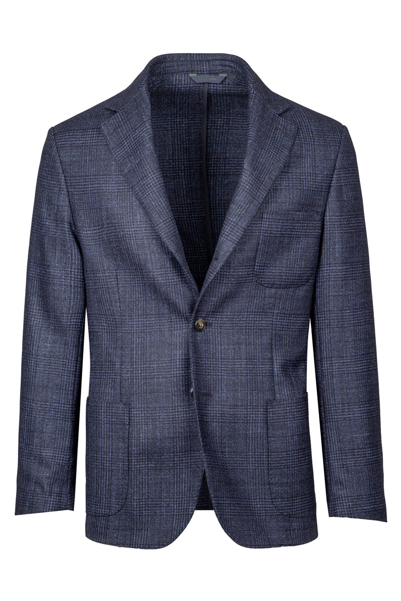 MONTEZEMOLO Men's Clothing - Jackets - Prince-of-Wales Wool Silk & Cashmere Blend Jacket - www.montezemolostore.com