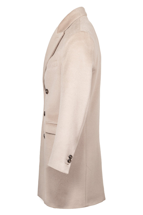 MONTEZEMOLO Men's Clothing - Outerwear - Lambs Wool Double-Breasted Coat - www.montezemolostore.com