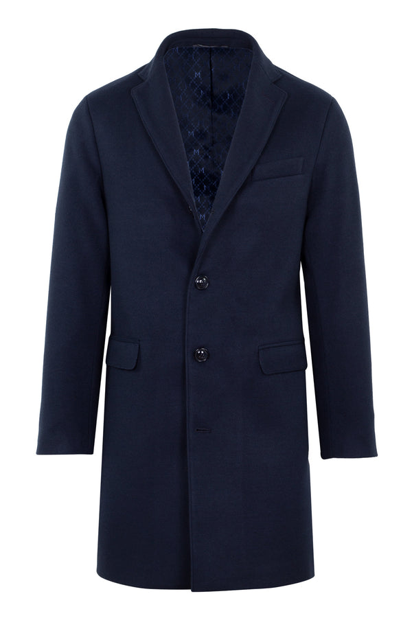MONTEZEMOLO Men's Clothing - Outerwear - Navy Technofabric Coat - www.montezemolostore.com