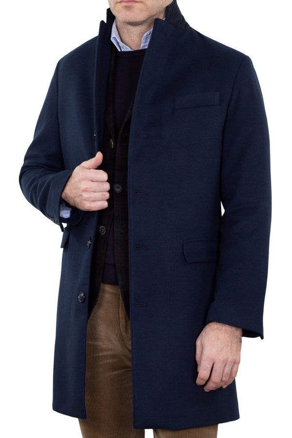 Navy Technofabric Coat