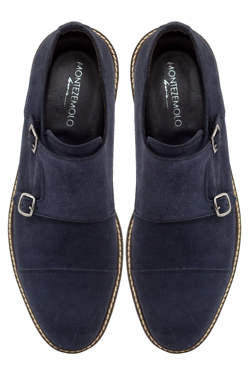 Suede Double-Monkstrap