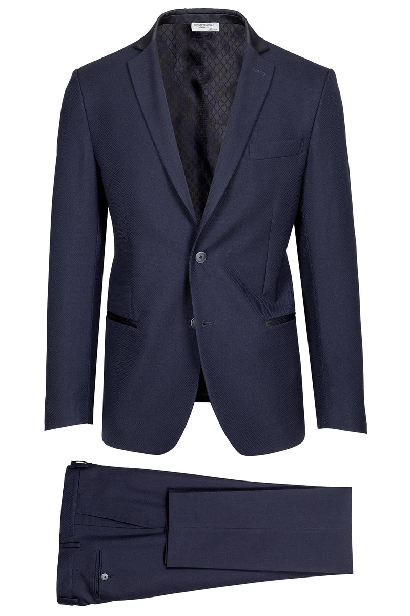 MONTEZEMOLO Men's Clothing - Suits - Micro Jacquard Fancy Evening Suit - www.montezemolostore.com